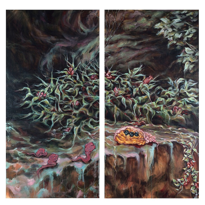 diptych| oil on canvas | 152 x 152 cm| 2012